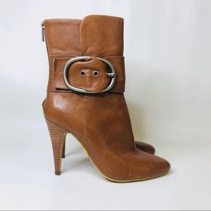 Boutique 9 High Heeled Ankle Booties Mila Brown